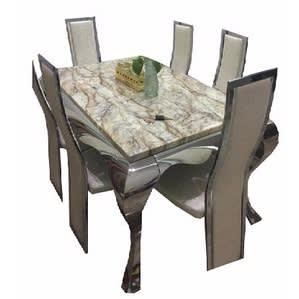 Animal Leg Designed Marble Dining Set Furniture