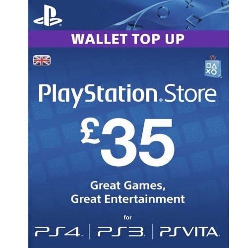 PlayStation Network PSN £35 GBP - 25 Pounds Store Card Key - PS4 PS3 PSP –  UK