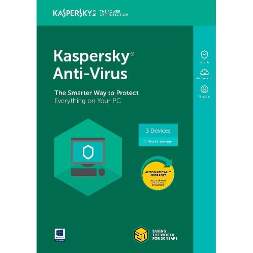 Anti-Virus 2018 3 Device 1 year Download Version