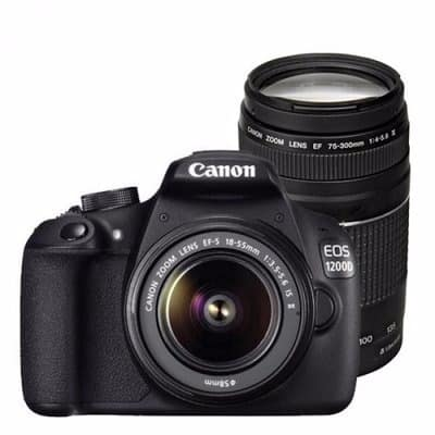 EOS 1200D Get Closer Kit 18-55mm and 75-300mm Lens Included