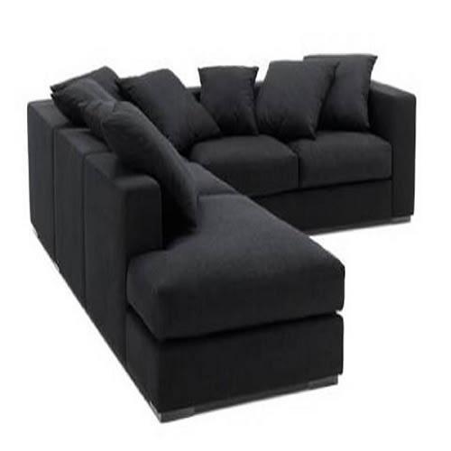 Black L-Shaped Sofa-8