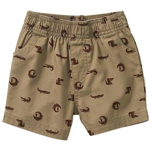 0c00df4ee Garanimals Newborn Baby Boys  Print Woven Shorts - Brown