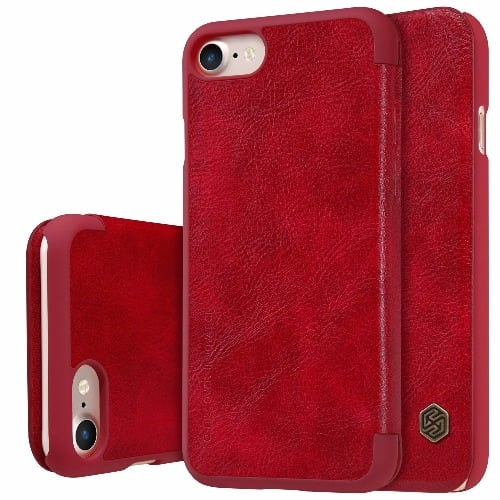 iphone 7 flip case red