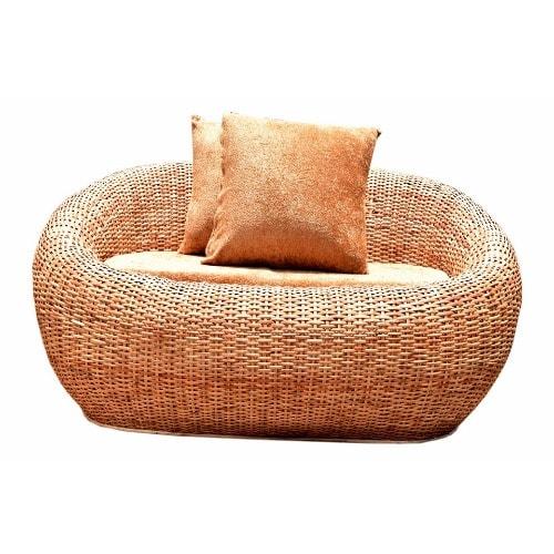 O2 2 Seater Cane Sofa Brown Konga Online Shopping