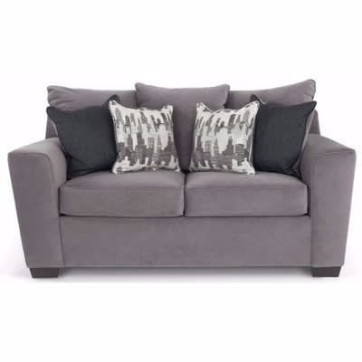 O2 2-Seater Fabric Sofa - Grey