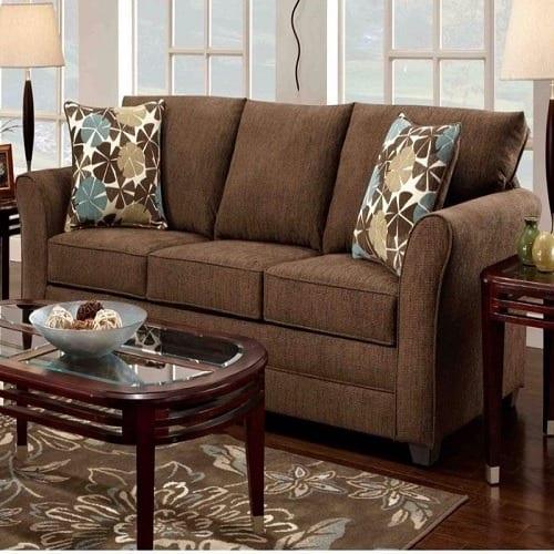 O2 Comfy 3 Seater Fabric Sofa Brown Konga Online Shopping