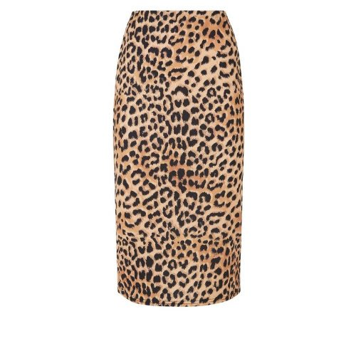 e161a62f30 New Look Leopard Print Pencil Midi Skirt-brown   Konga Online Shopping