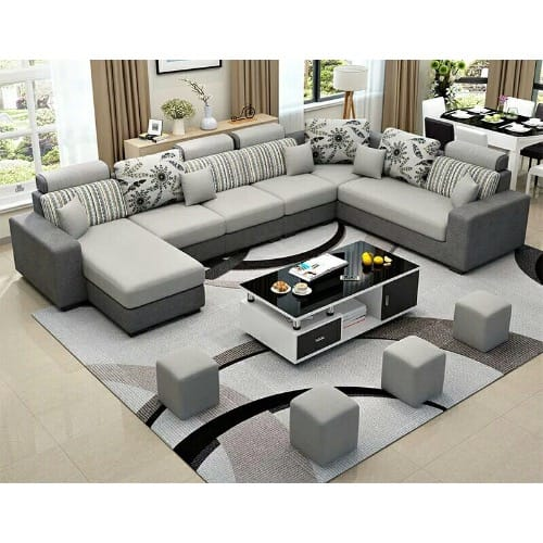 Living Room Furniture Alva Sectional Set + Centre Table