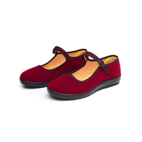 69549ff1bf9 OB Flat Bottom Women's Velvet Shoes - Red | Konga Online Shopping