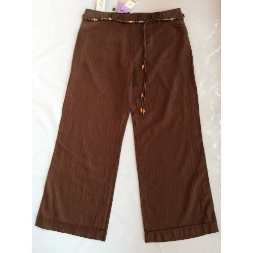 Side Jersey Brown Maternity Trousers