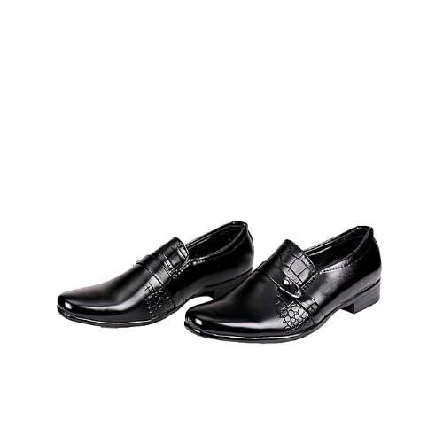 Pujin Boys Crocs Design Dress Shoe And