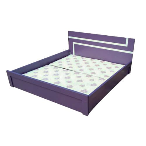 6ft X 6ft Strip Bedframe With Bed Side And Free 1 Quality Bed Spread