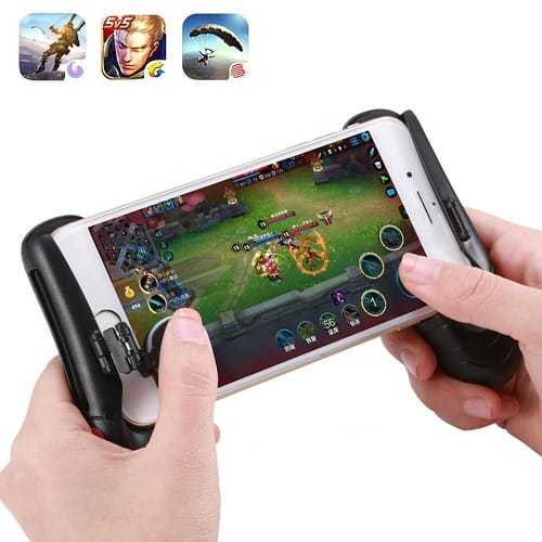 Telescopic Game Controller Handle Grip Holder with Joystick for iPhone Android