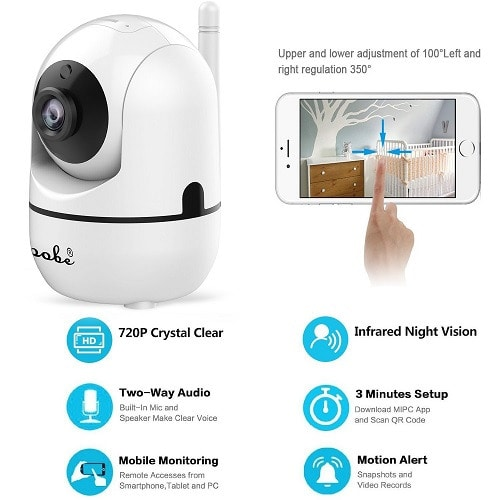 Night Vision Wireless IP Baby Monitor