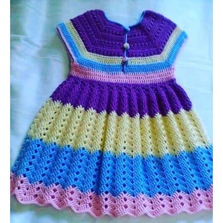 Handcraft Multicoloured Crochet Baby Dress Konga Online Shopping