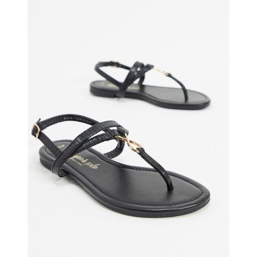 Memoria incidente Jabeth Wilson  New Look Toepost Sandals In Black | Konga Online Shopping
