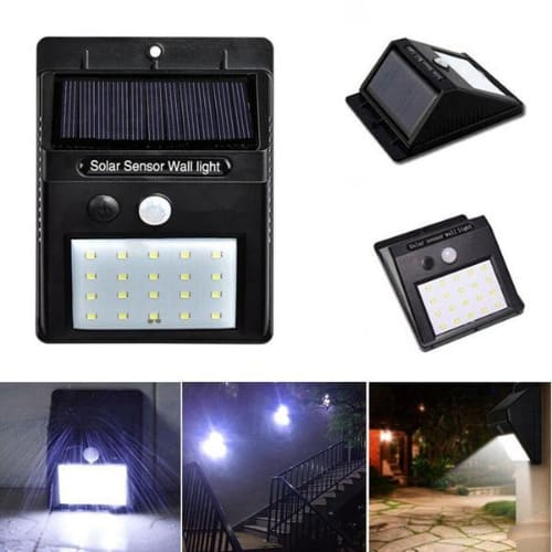 Solar Power 20 Led Motion Sensor, Outdoor Led Wall Lights With Motion Sensor