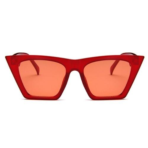 77730a4e9ea6 Thick Frame Cat Eye Sunglasses- Red   Konga Online Shopping
