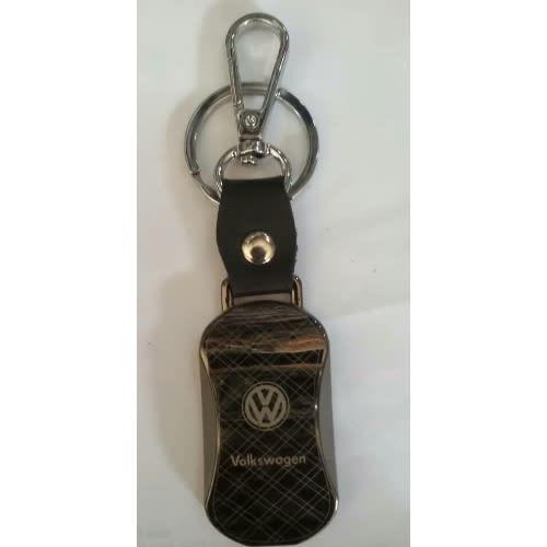 VW R  stainless steel key ring