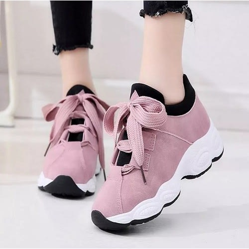 0100980d68 Women's Lace-up Sneakers - Pink | Konga Online Shopping