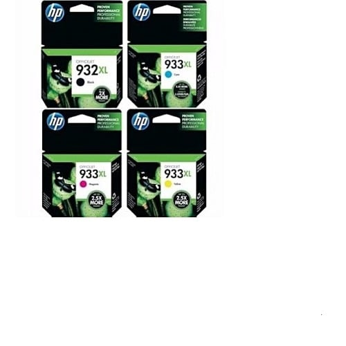 932xl & 933xl Ink Cartridge Set - 4 Pieces