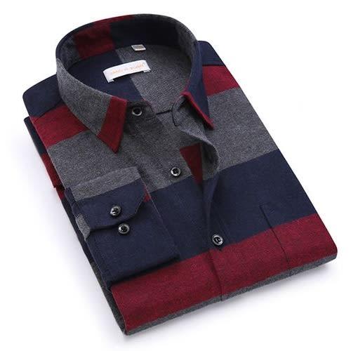 Men's Plaid Stripe Shirt.