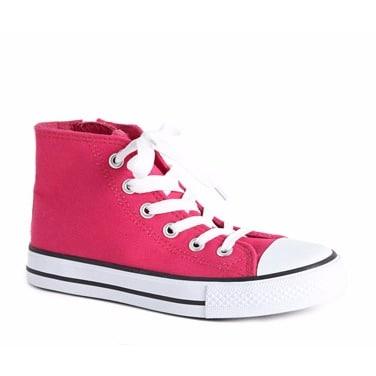 Dunnes Older Girl's Hi-top Shoe - Pink