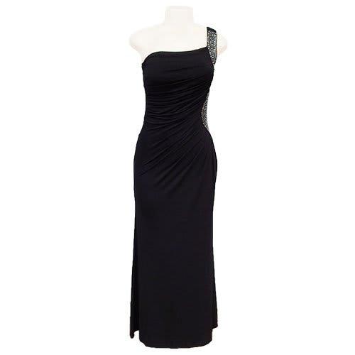 b31bdc4f599 One Shoulder Dress with Silver Studs - Black | Konga Online Shopping