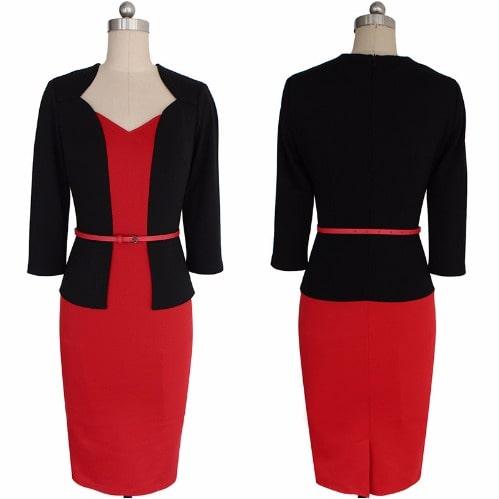 /O/n/One-piece-Faux-Elegant-Dress--Red-8058616.jpg
