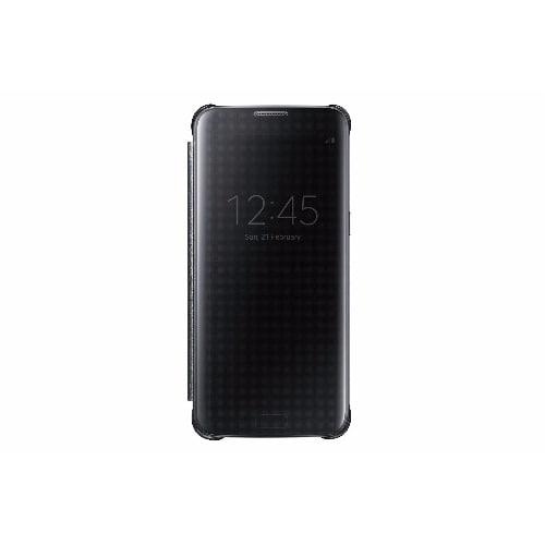 timeless design 31303 7d1dc Original Clear View Smart I.C Case for Samsung S7 Edge - Black