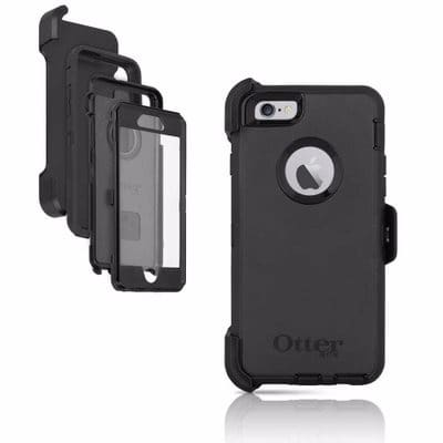 newest 8568f 26910 OtterBox Defender Cover Case & Holster for iPhone 7 Plus - Black