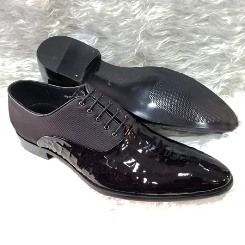 99084aa812 Patent Leather Lace-up Loafer Shoe + A Free Happy Socks | Konga ...