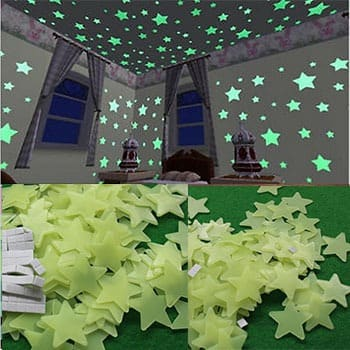 Glow In The Dark Luminous Wall Stickers 100 Pack