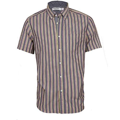 60d8f428d8 Nautica Men's Short-sleeve Classic-fit Stripes Shirt - Multi | Konga ...