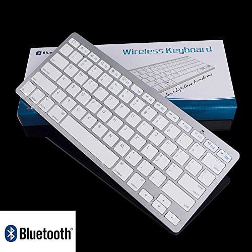 Ultra Slim Wireless Bluetooth Keyboard for Android & Apple Devices