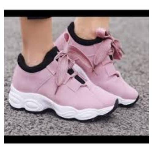 a disposizione brillante nella lucentezza vasta gamma di HZB Ladies Sneaker-Pink   Konga Online Shopping