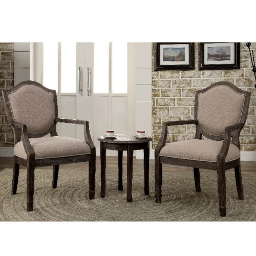 Contemporary 3-Piece Living Room Furniture - Dark Brown