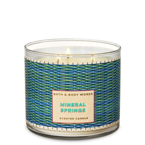 Mineral Springs 3-wick Scented Candle