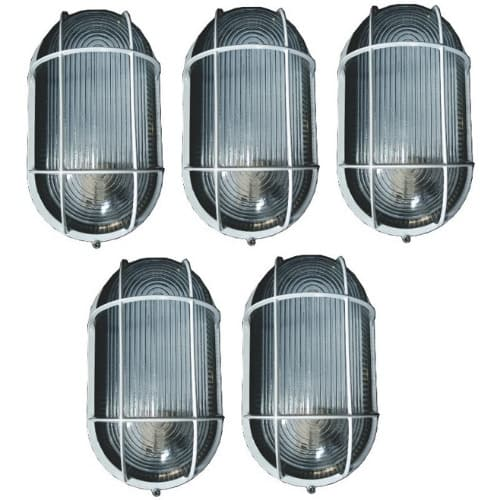 10 Pieces Oval Fence Light & Outdoor Wall Lamp