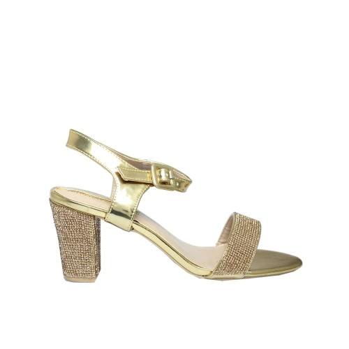 6305e198111 Ladies High Heel Sandals - Gold