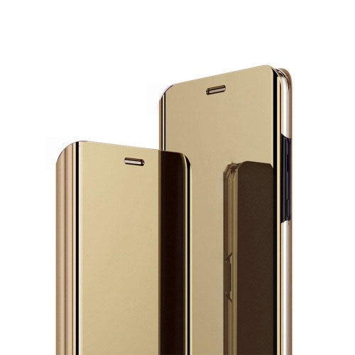timeless design a0241 27be9 Samsung Galaxy A6plus 2018 Clear View Flip Case. Gold