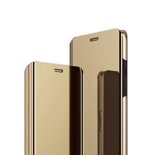 timeless design bbeb2 520b8 Samsung Galaxy A6plus 2018 Clear View Flip Case. Gold
