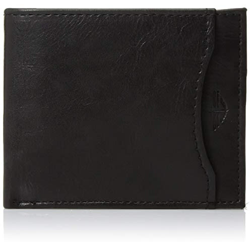 Men's Rfid Security Blocking Passcase Wallet- Black