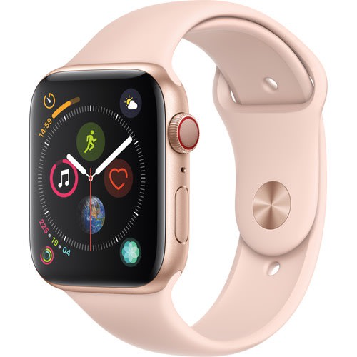 Watch Series 4 - Gps + Cellular 44mm, Gold Aluminum, Pink Sand Sport Band - Mtv02ll/a