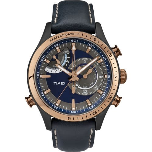 T2p727 Men's Intelligent Quartz Chronograph Blue Leather Watch
