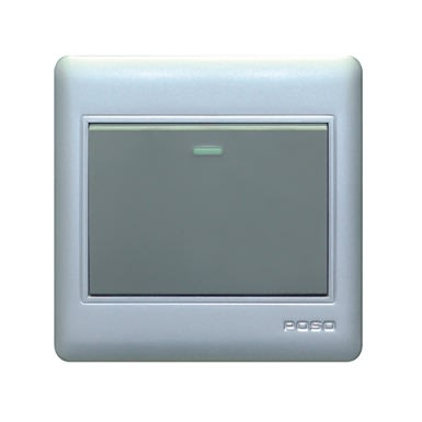 Light Switches - Grey Coloured 1 Gang 1 Way