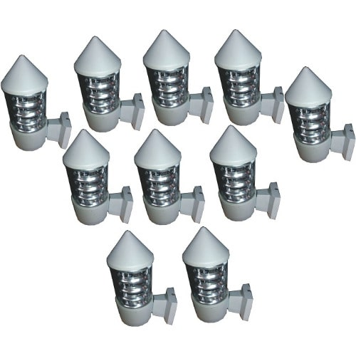 10 Pieces Outdoor Wall Lamp & Fence Light