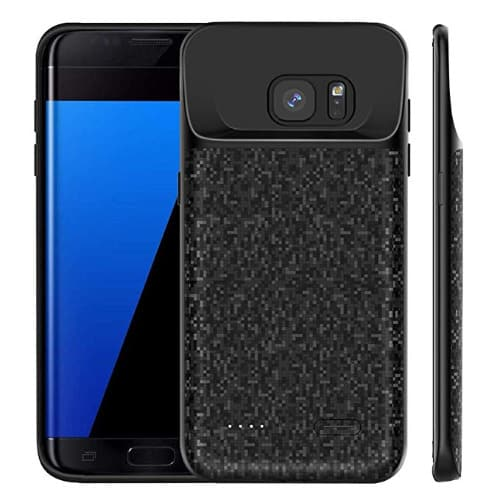 classic fit a4b0e bd528 Samsung Galaxy S7 Edge Battery Case Slim, Newdery 5000mah Rechargeable  Extended Charging