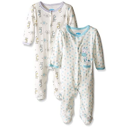 2 Piece Sleep And Play Longsleeved Footed Wear