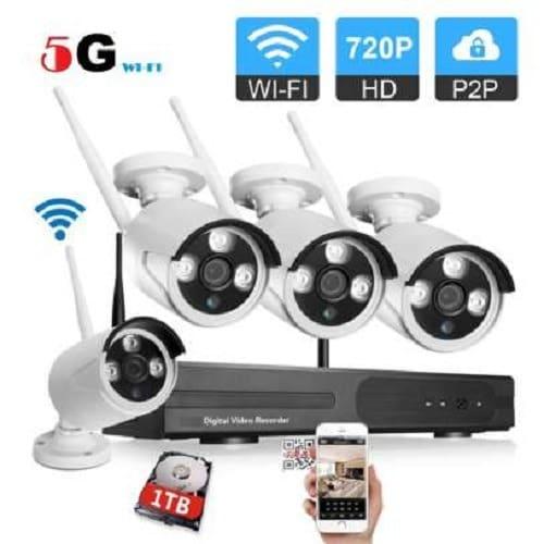 Wireless 4ch Wifi Nvr Kit With 4 720p IP Camera